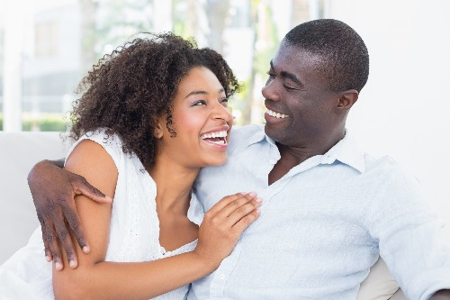 African-American-couple-laughing