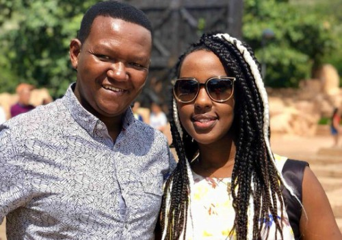 Alfred Mutua with his wife