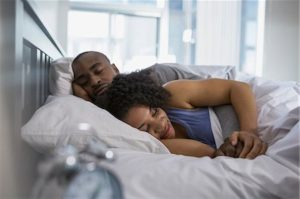 6117-07999883 © Masterfile Royalty-Free Model Release: Yes Property Release: Yes Couple sleeping in bed in the morning