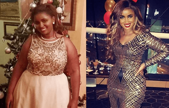Anerlisa Muigai before and after weightloss