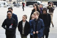 000000angelina jolie and kids in london