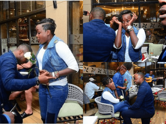 Jaque Maribe speechless as her man Jowie Jowi proposes
