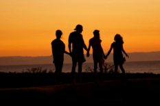 family-at-sunset