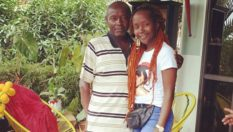 Anne Kansiime with her dad