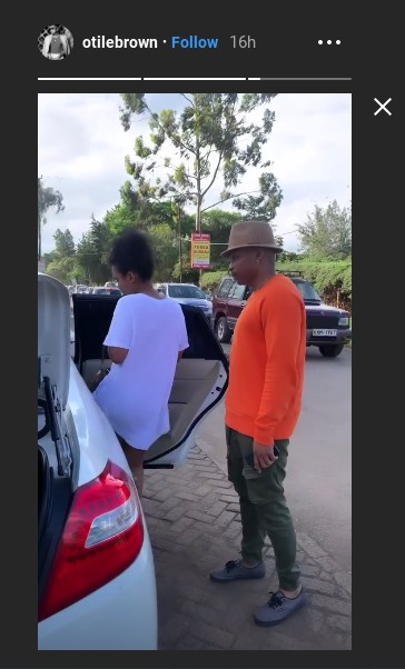 Otile Brown goes shopping with his new catch
