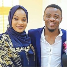 AliKiba with Amina-Khalef his wife in a file photo