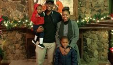 Eddie Ndichu with Janet Mbugua with their sons 1