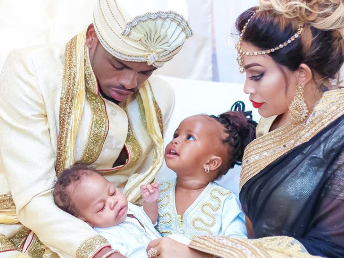 Zari, Diamond with their two kids in the past