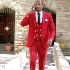 Babu Owino in red
