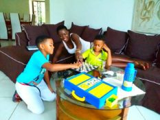 Akothee with her two sons