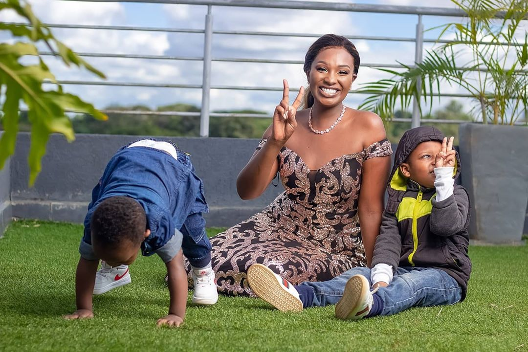 Maureen Waititu with her two sons