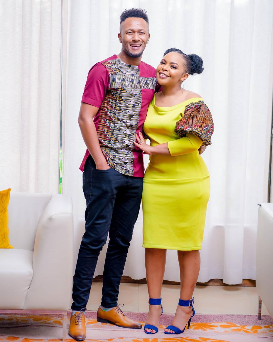 Size 8 with her husband Dj Mo