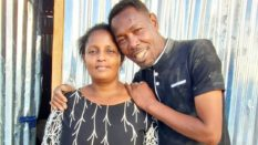 Omosh with his first wife
