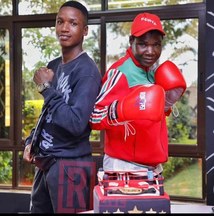 Conjoestina Achieng and her son Charltone Otieno