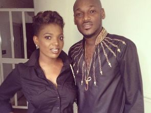2face idibia and wife